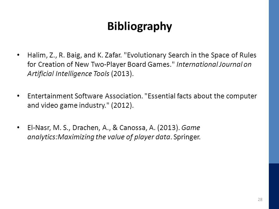 Bibliography Halim, Z., R. Baig, and K. Zafar.