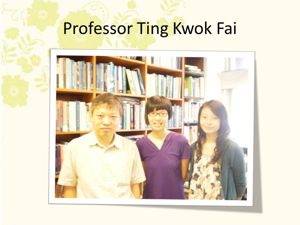 Professor Ting Kwok Fai