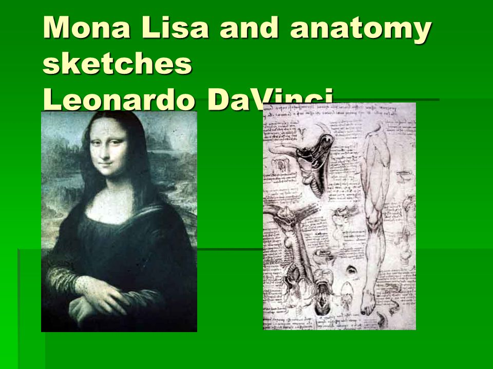 Mona Lisa and anatomy sketches Leonardo DaVinci