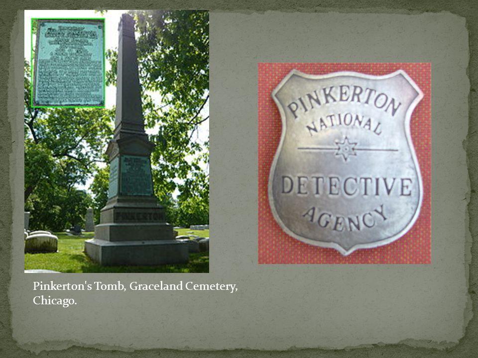 Pinkerton's Tomb, Graceland Cemetery, Chicago.