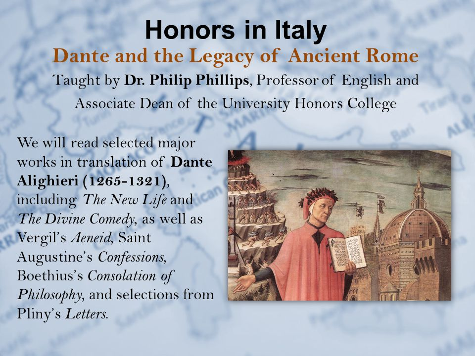 Honors in Italy Tentative Itinerary  Saturday, June 14: Day trip to Pisa  Sunday, June 15: Drop off at Florence Peteroia Airport Depart Florence for Home