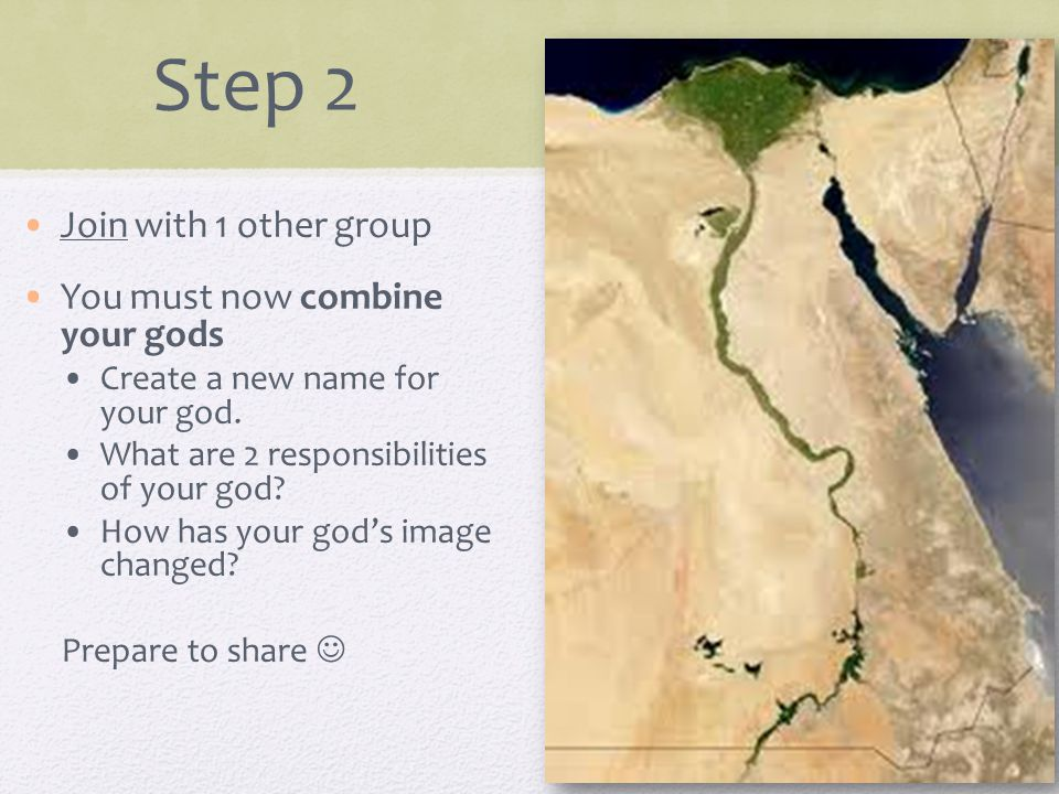 Step 2 Join with 1 other group You must now combine your gods Create a new name for your god.