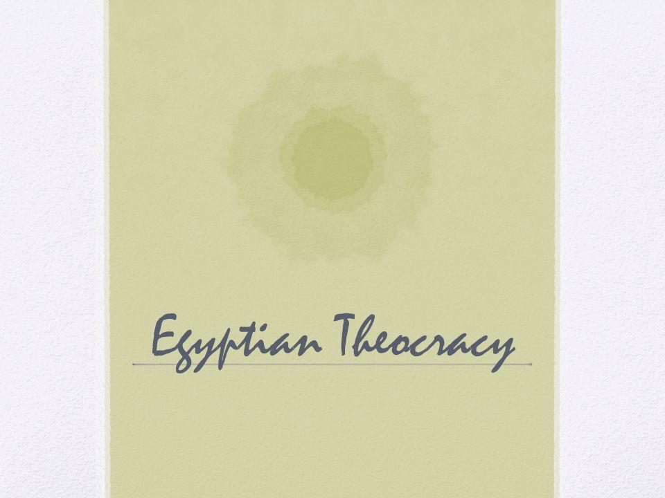 Egyptian Theocracy