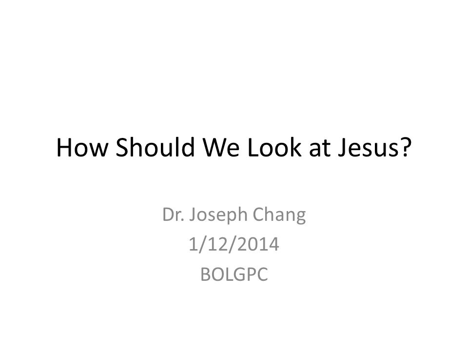 Jesus as the Law & Prophets demand of him How the people looked at Jesus.
