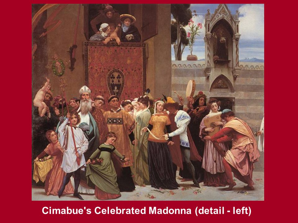 Cimabue's Celebrated Madonna, oil on canvas, 1853 - 1855