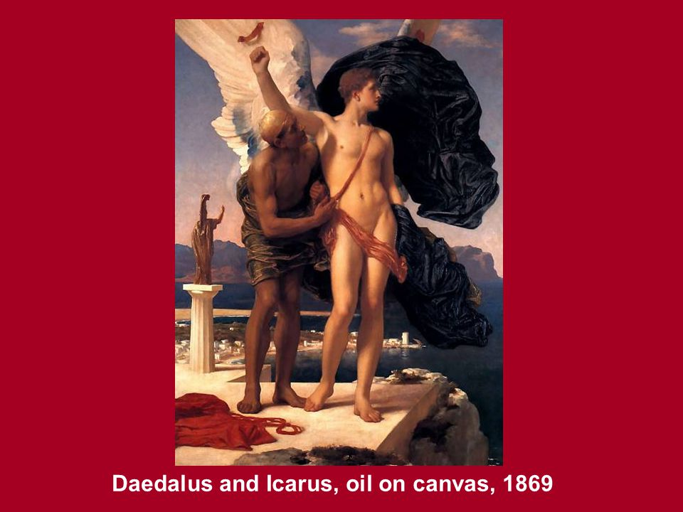 Daedalus and Icarus, oil on canvas, 1869