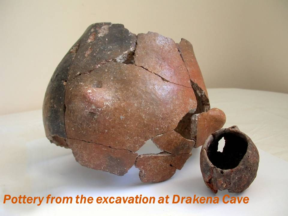 Pottery from the excavation at Drakena Cave
