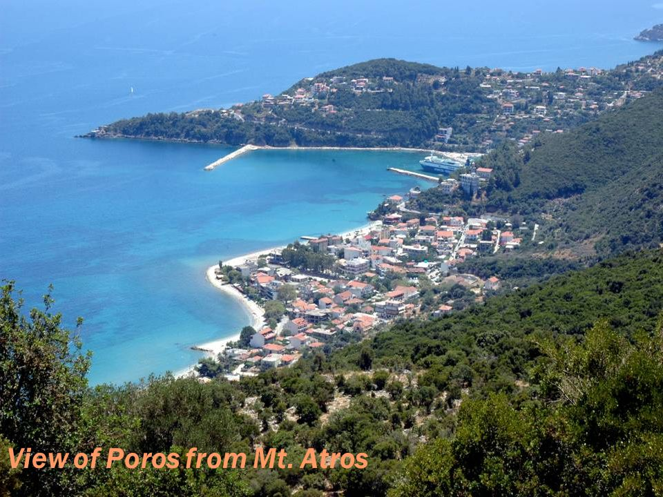 View of Poros from Mt. Atros