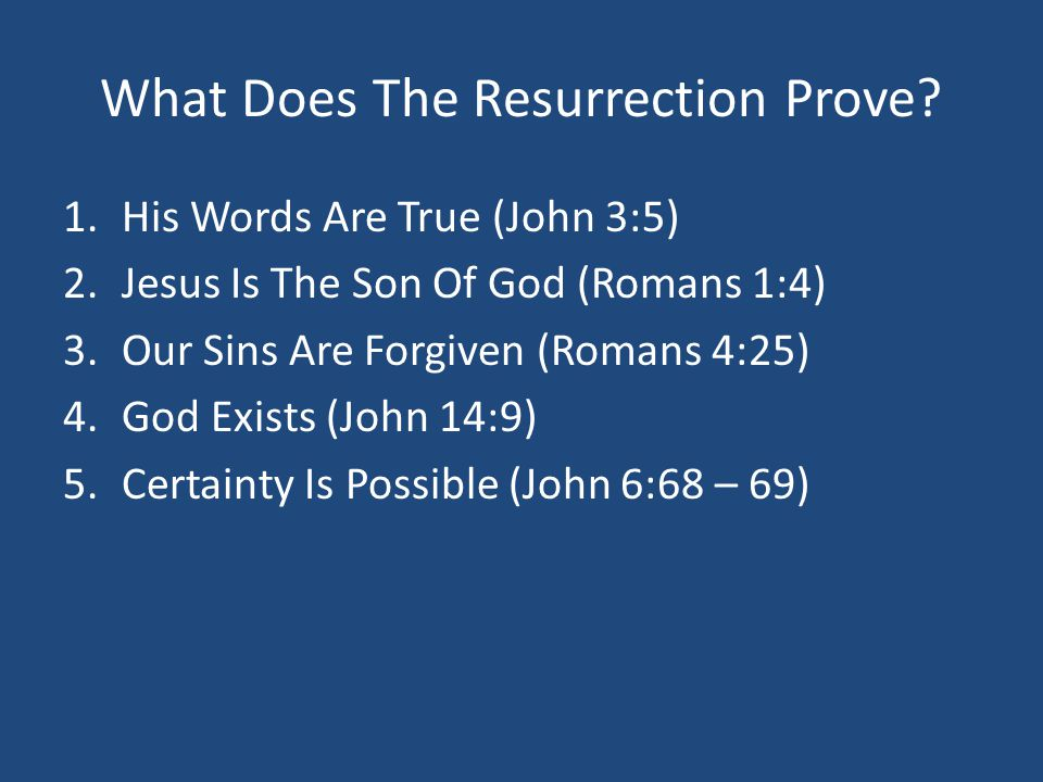 What Does The Resurrection Prove.