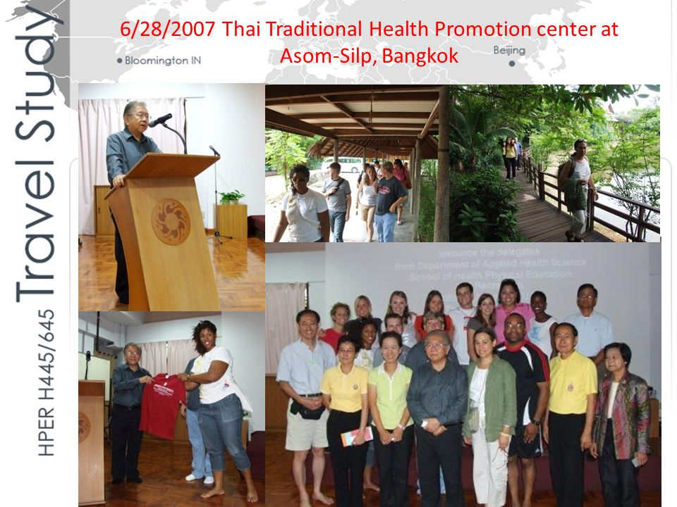 6/28/2007 Thai Traditional Health Promotion center at Asom-Silp, Bangkok
