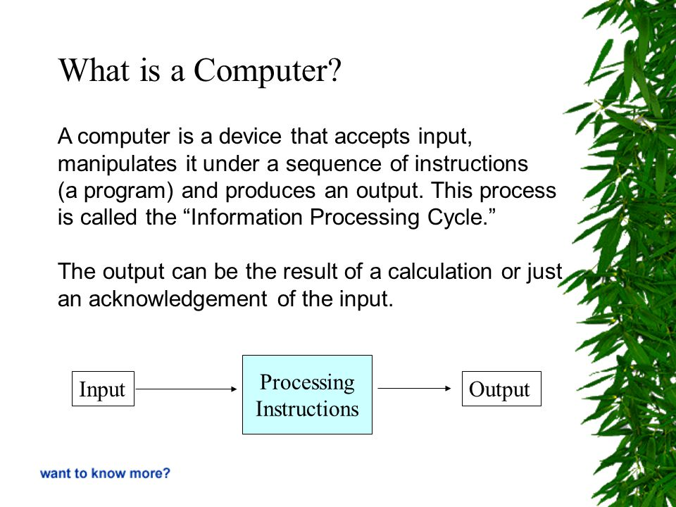 For example… …an abacus is a kind of computer…