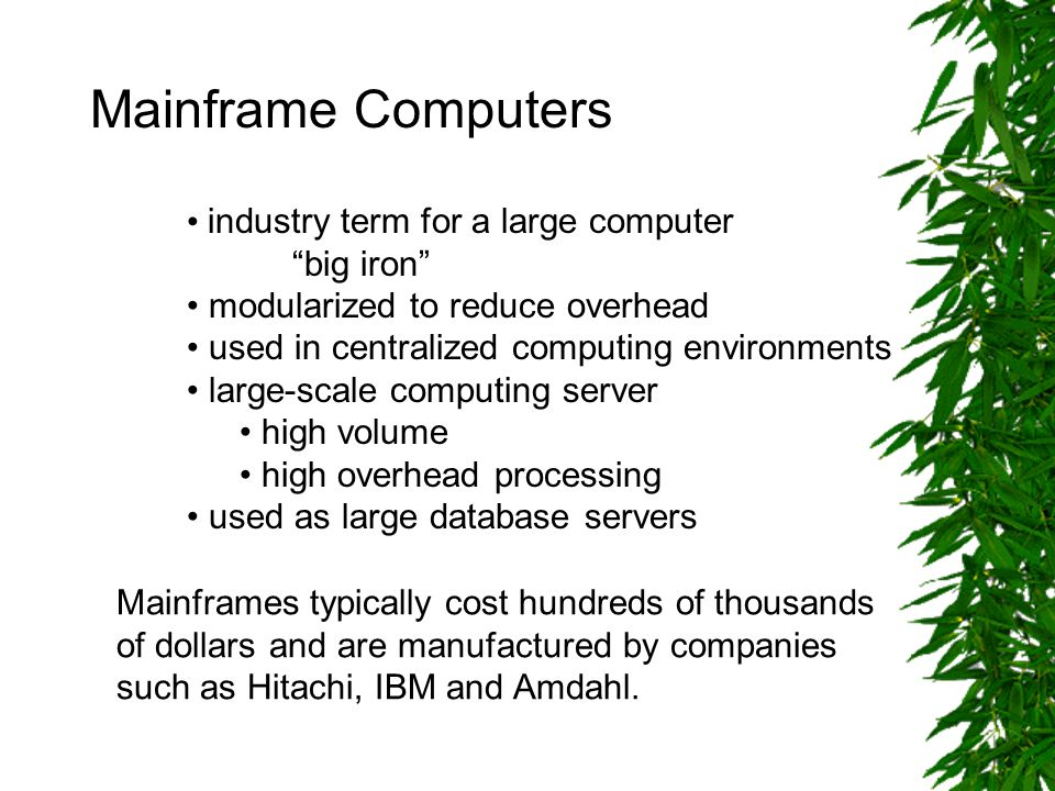 Diagram of a Simple Mainframe Configuration