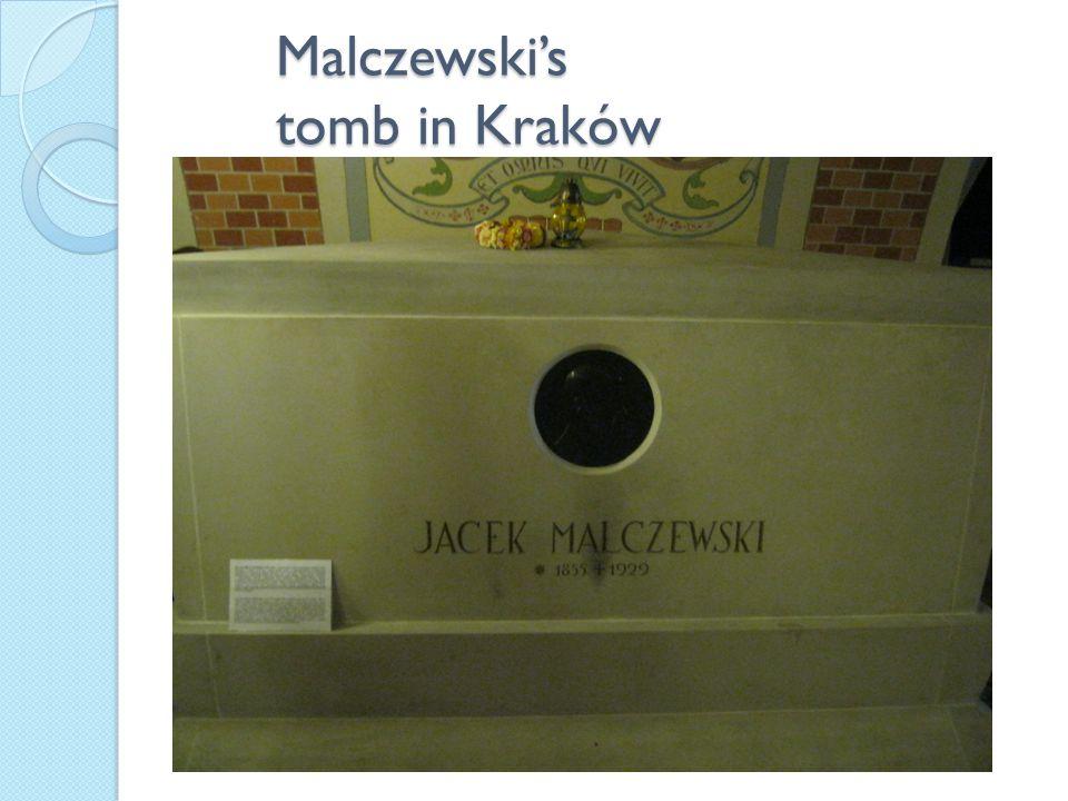 Malczewski's tomb in Kraków