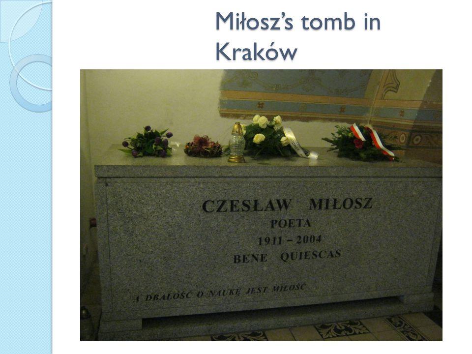 Miłosz's tomb in Kraków