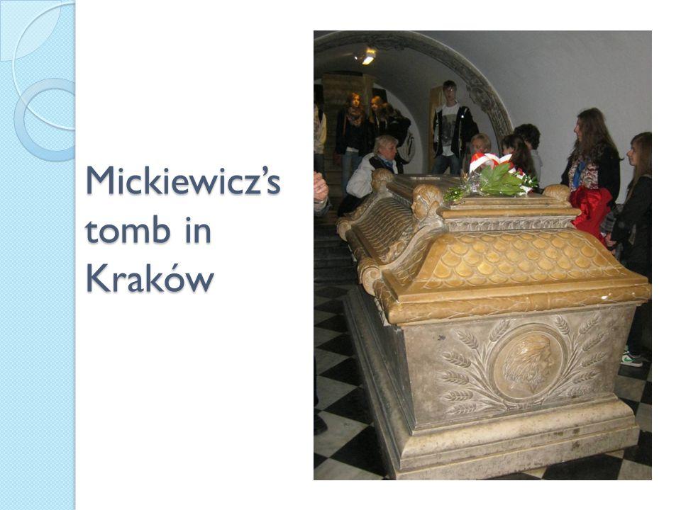 Mickiewicz's tomb in Kraków