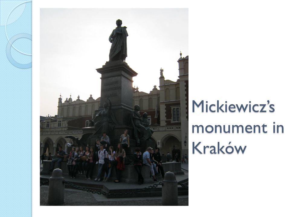 Mickiewicz's monument in Kraków