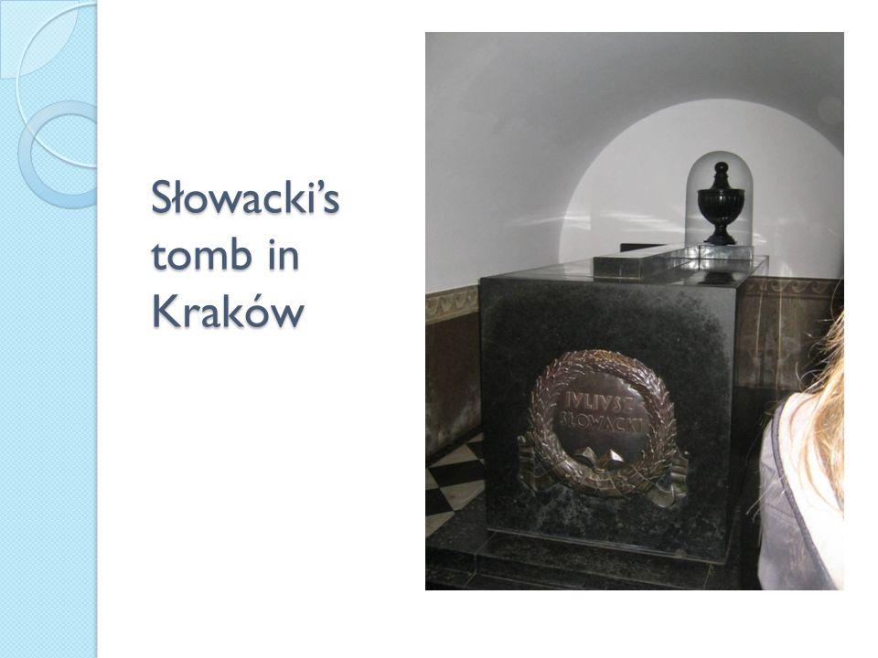 Słowacki's tomb in Kraków