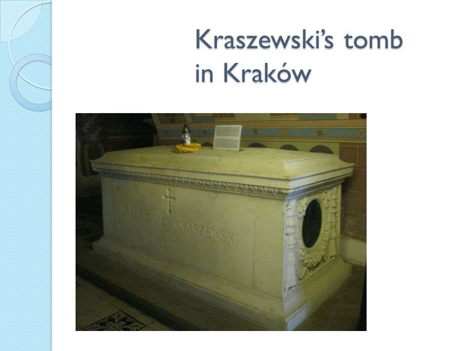 Kraszewski's tomb in Kraków