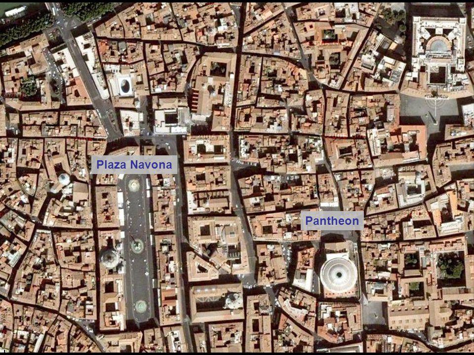 Pantheon – The external brick wall