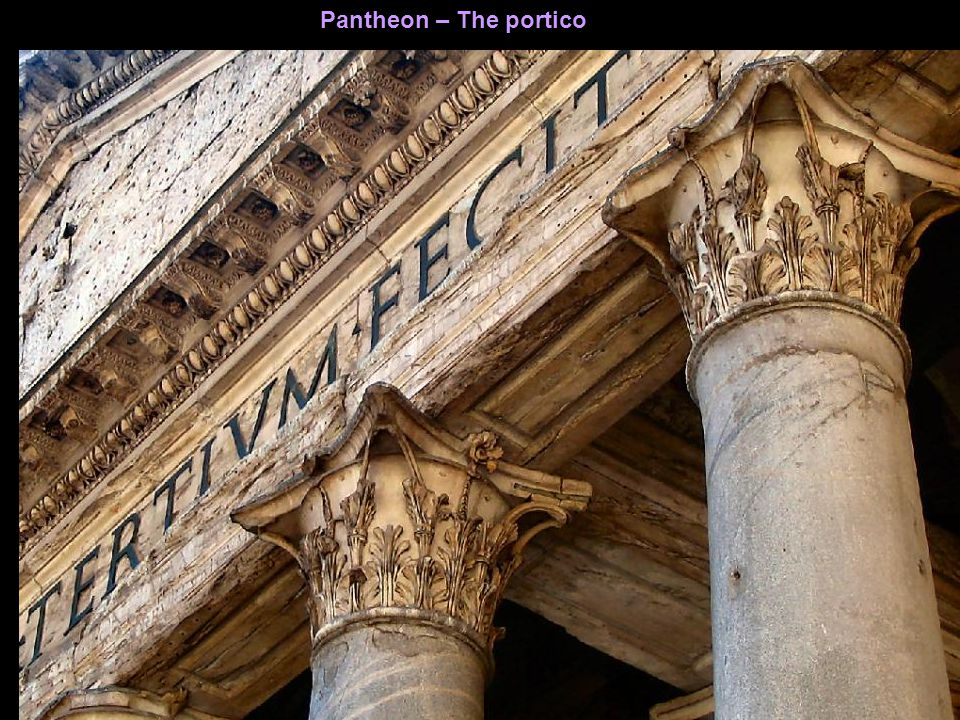 Pantheon – The ceiling of the portico