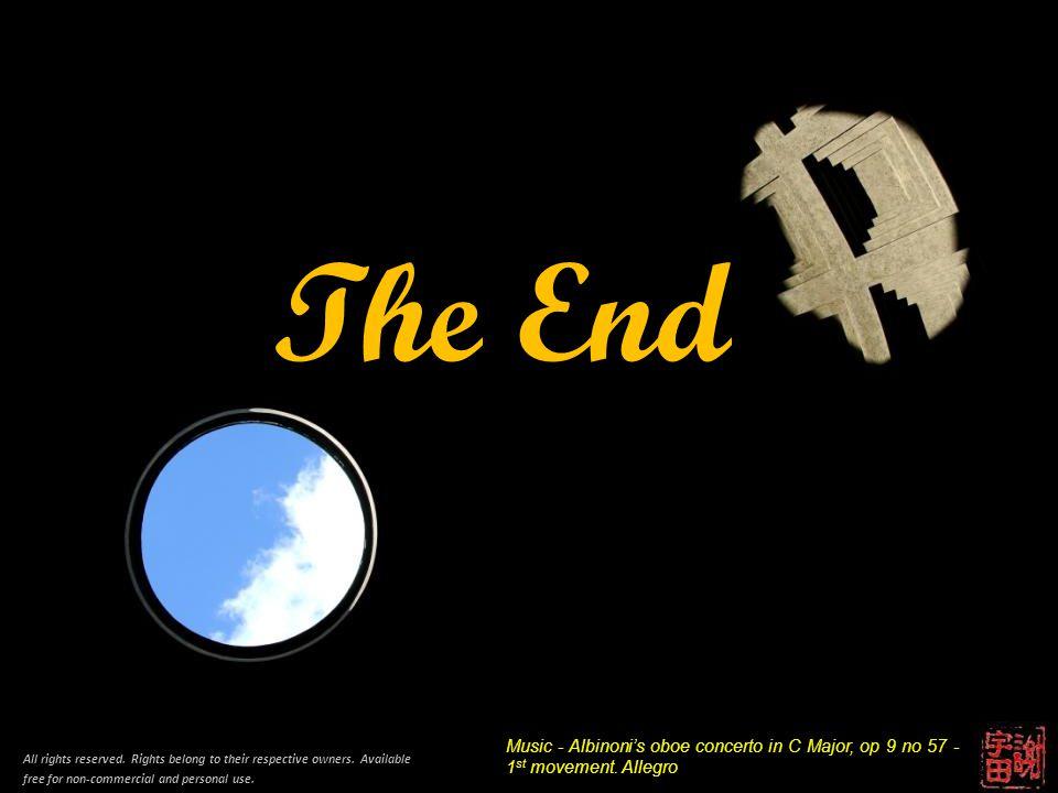 End The End Music - Albinoni's oboe concerto in C Major, op 9 no 57 - 1 st movement.