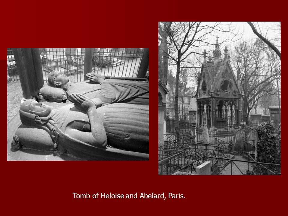 Tomb of Heloise and Abelard, Paris.