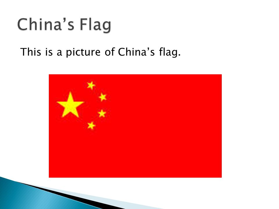 This is a picture of China's flag.