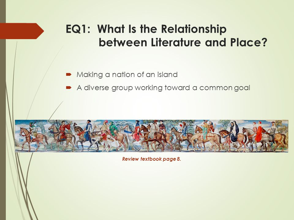 EQ1: What Is the Relationship between Literature and Place.