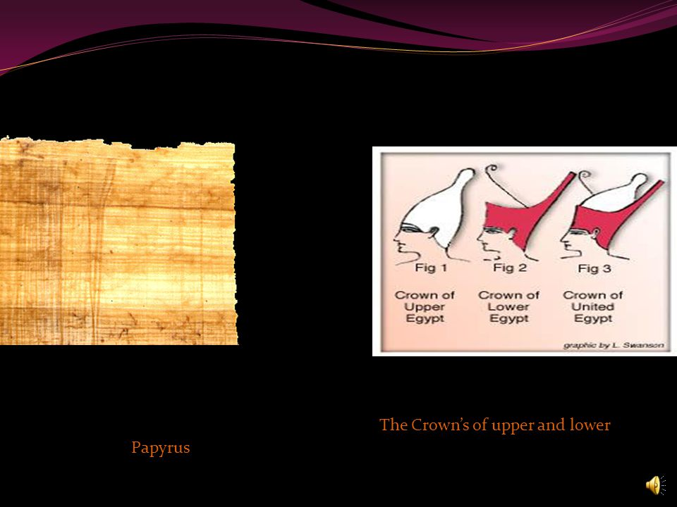 Papyrus The Crown's of upper and lower