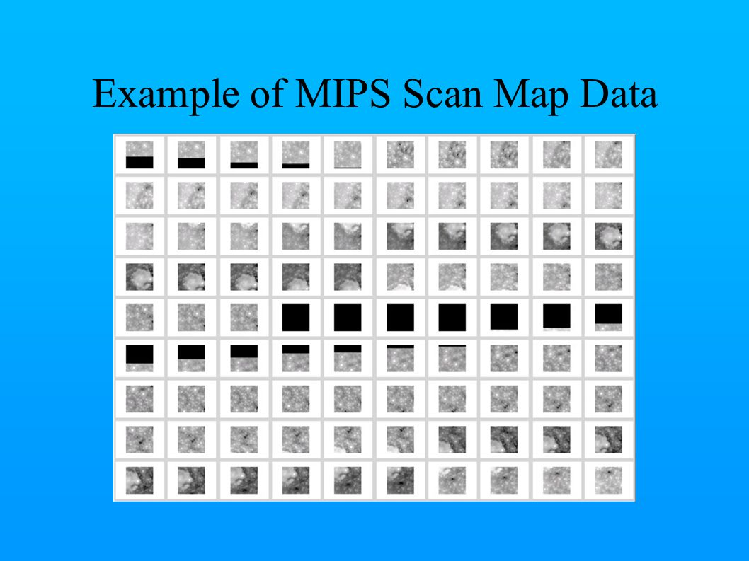 Example of MIPS Scan Map Data