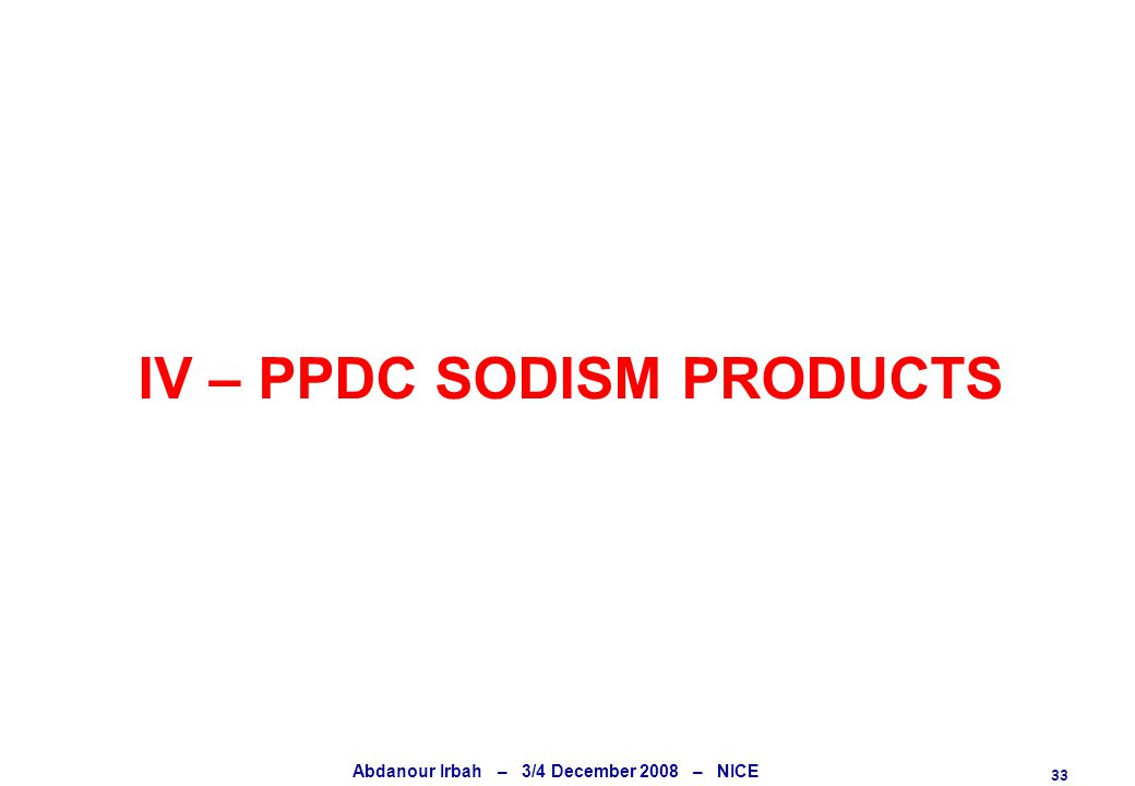 33 Abdanour Irbah – 3/4 December 2008 – NICE IV – PPDC SODISM PRODUCTS