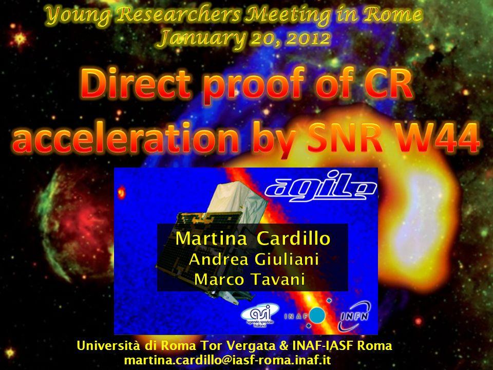 Università di Roma Tor Vergata & INAF-IASF Roma martina.cardillo@iasf-roma.inaf.it
