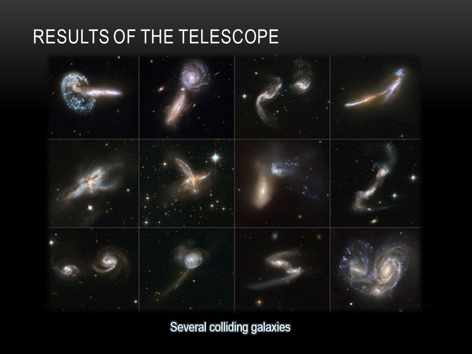 RESULTS OF THE TELESCOPE