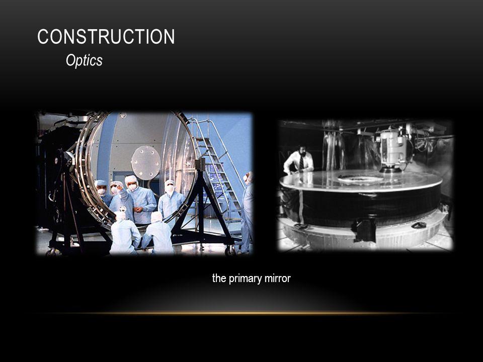 CONSTRUCTION Optics the primary mirror