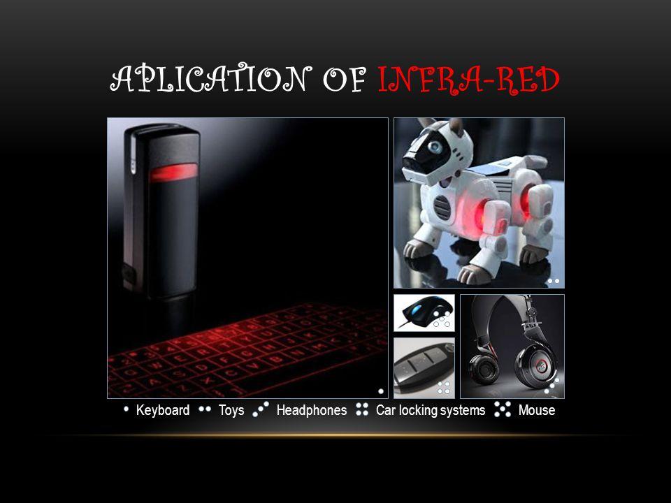 APLICATION OF INFRA-RED KeyboardToysHeadphonesCar locking systemsMouse