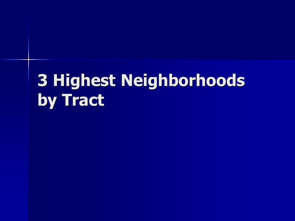 3 Highest Neighborhoods by Tract