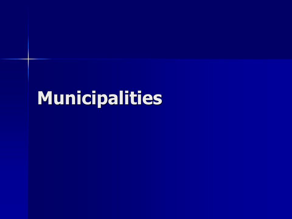 Municipalities