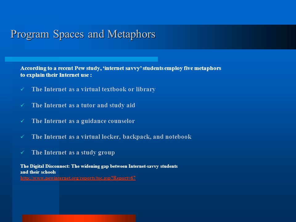 Spaces and Metaphors I.