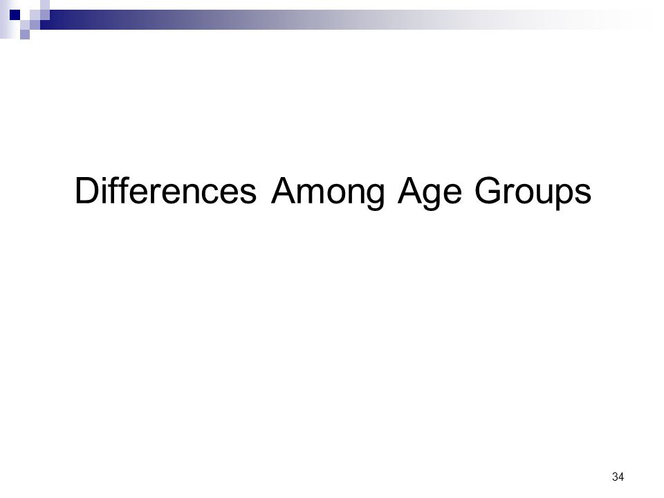 34 Differences Among Age Groups