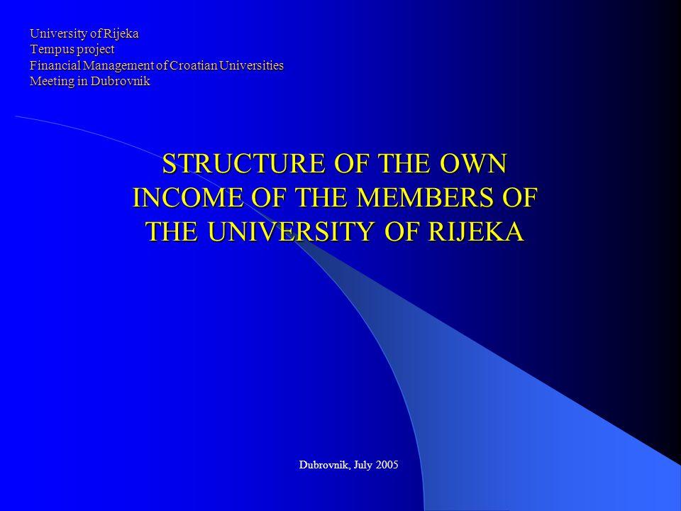University of Rijeka Tempus project Financial Management of Croatian Universities Meeting in Dubrovnik University of Rijeka Tempus project Financial M