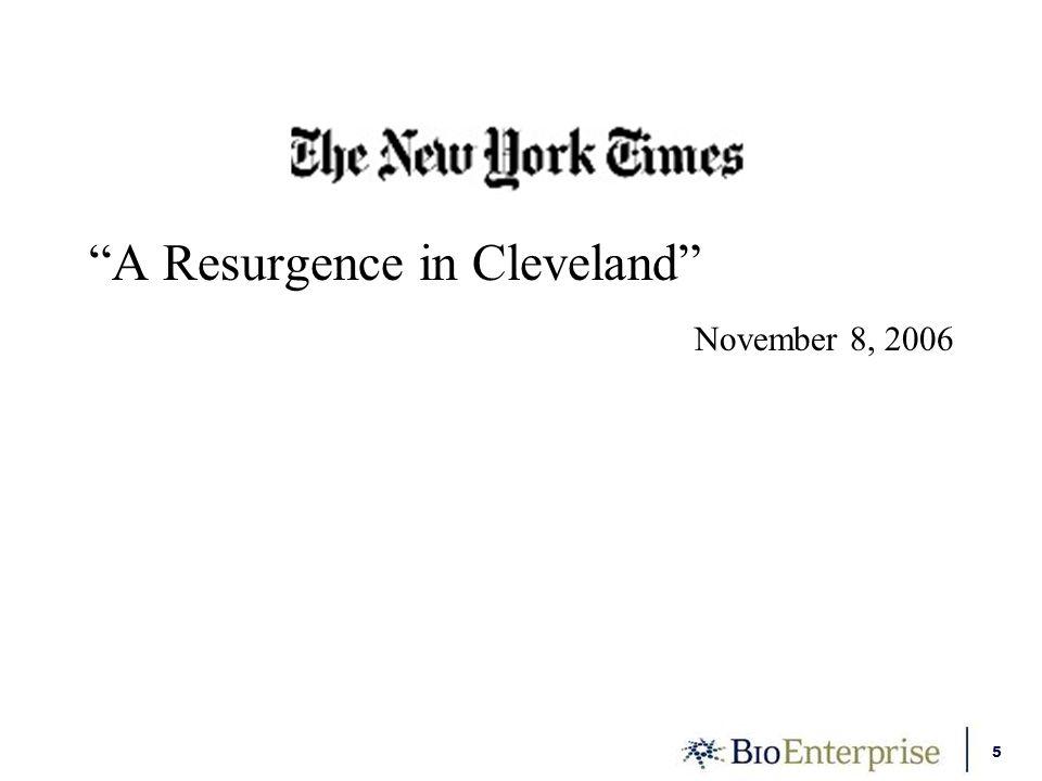 5 A Resurgence in Cleveland November 8, 2006
