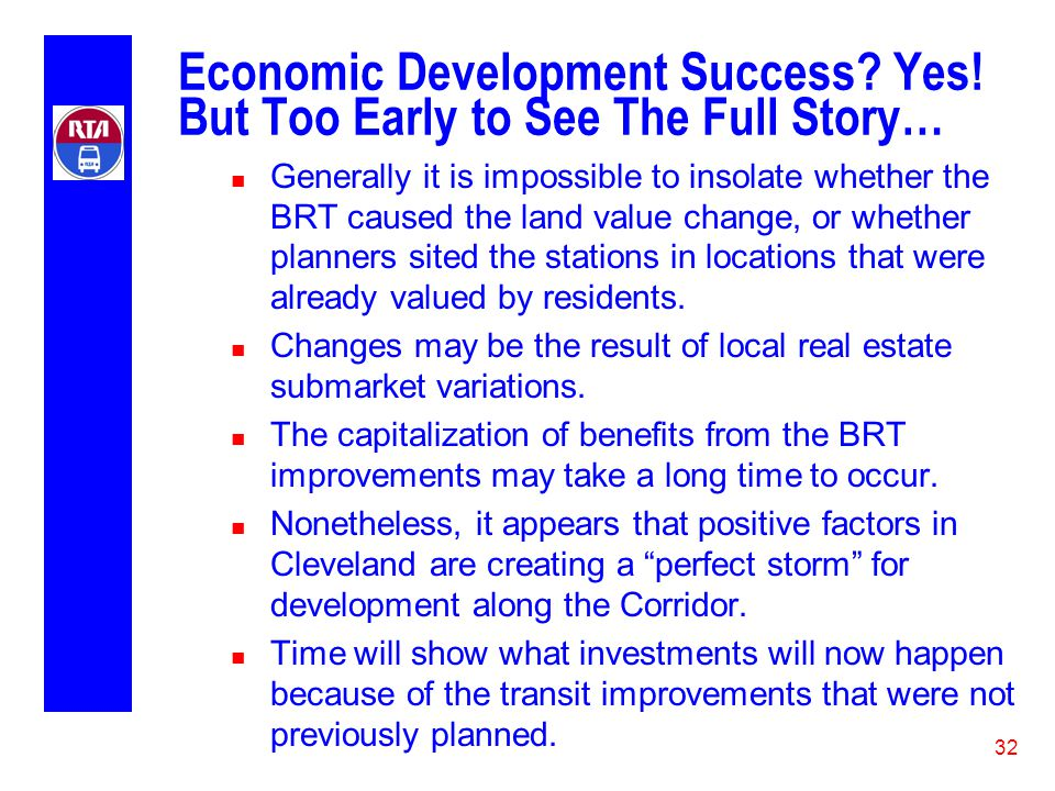 32 Economic Development Success. Yes.
