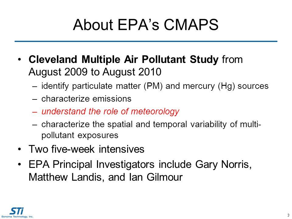 4 Complex PM 2.5 Concentrations Urban PM 2.5 Upwind PM 2.5