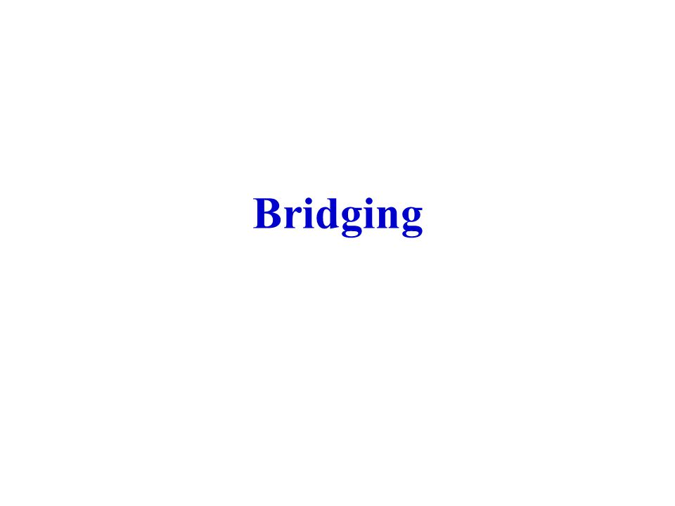 Configuration Message Configuration message format DSAP=SSAP=01000010 Configuration message comprises tree root ID, cost of forwarding (the number of hops from the tree root), transmitting bridge ID, port ID at the transmitting bridge, settable parameters.