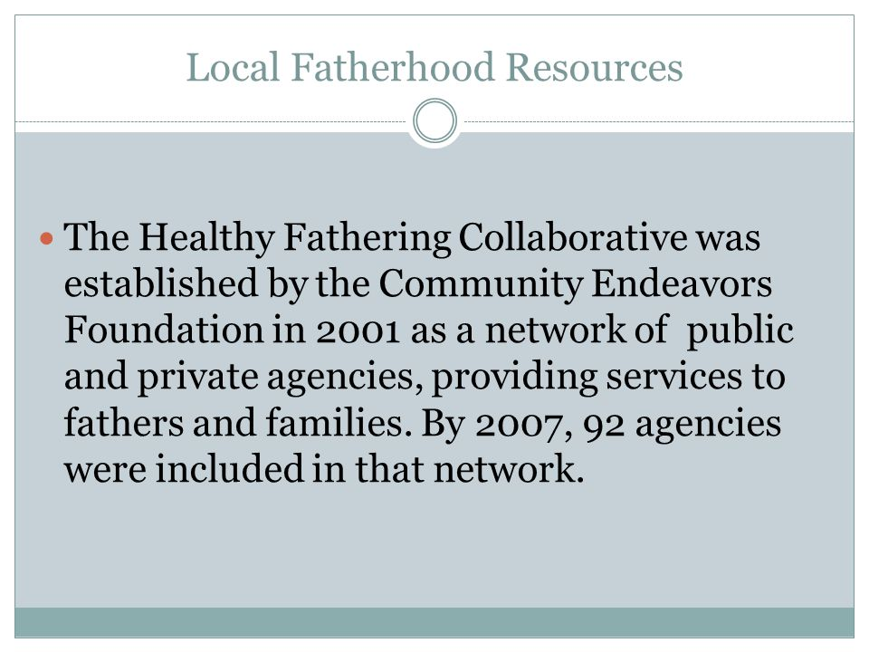 Healthy Fathering Collaborative Site