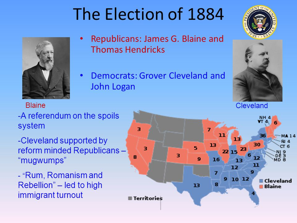 The Election of 1884 Republicans: James G.