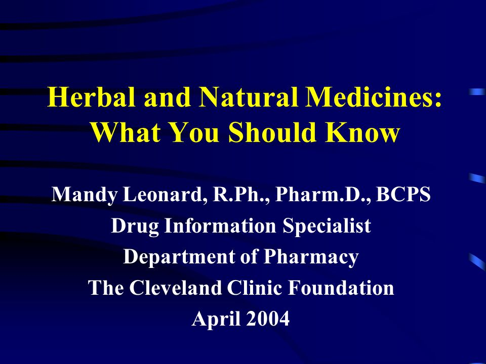 Objectives Review the reasons why people are using herbal/ alternative medicines.