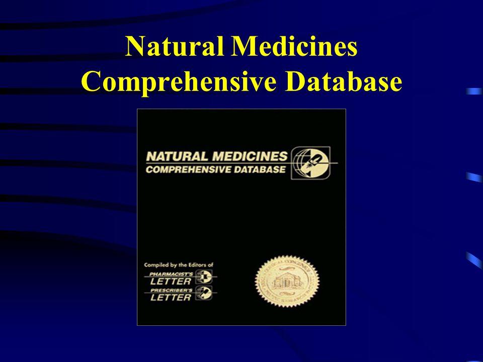 Natural Medicines Comprehensive Database