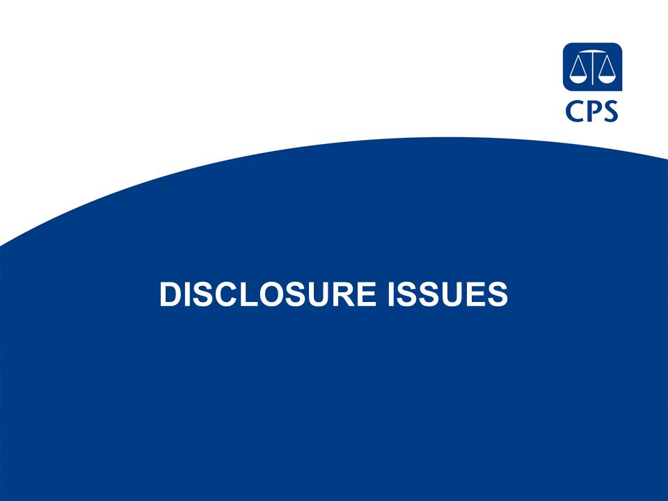 DISCLOSURE ISSUES