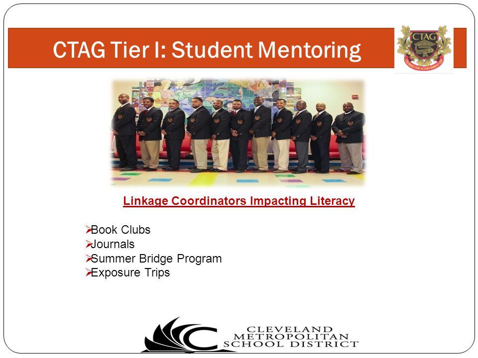 Linkage Coordinators Impacting Literacy  Book Clubs  Journals  Summer Bridge Program  Exposure Trips